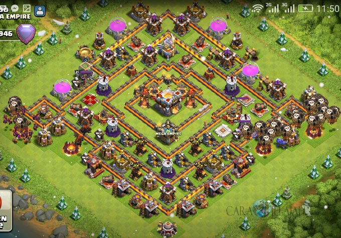 Base Coc Th 11 Terkuat Di Dunia 2